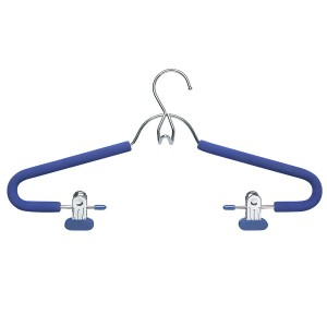Honey Can Do Foam Hanger With Clips Chrome Blue