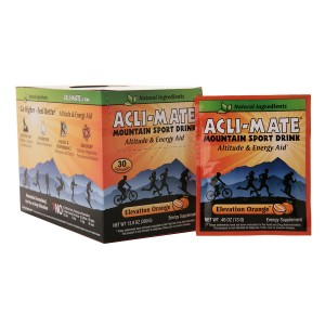 Acli-Mate Mountain Sport Drink Altitude & Energy Aid Packets Elevation Orange