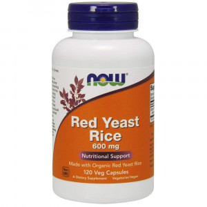 Now Foods Red Yeast Rice 600 Milligrams, 120 Veggie Caps
