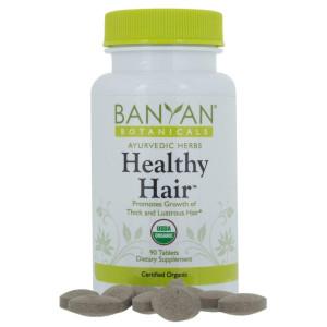 Banyan Botanicals Healthy Hair - USDA Certified Organic, 90 Tablets - Nourishing Herbal Formula for All Hair Types
