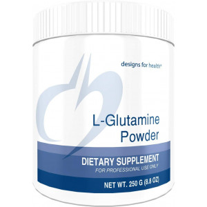 Designs for Health - L-Glutamine Powder - 3000mg, Amino Acid Gut + Anabolic Muscle Growth Support, 250 Grams