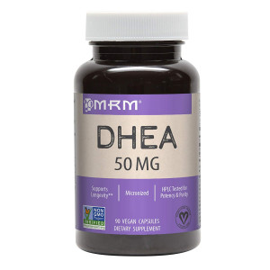 MRM Micronized DHEA Vegetarian 50 mg Caplets, 90-Count Bottles
