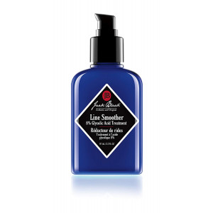 JACK BLACK  Line Smoother 8% Glycolic Acid Treatment  PureScience Formula, Fast-Acting, Smooths Skin, Helps Reduce Appearance of Wrinkles, Oil-Free Treatment, Helps Improves Skin Tone, 3.3 oz.