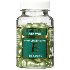 Aloe Vera and Vitamin E Skin Oil, 90 green Capsules