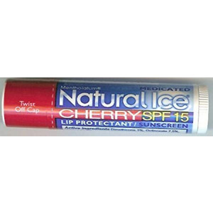 Natural Ice SPF15 Cherry Flavor Lip Balm 3 Pack