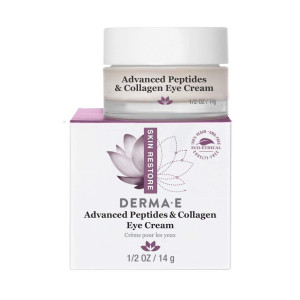 DERMA E Advanced Peptides and Collagen Eye Cream, 1/2oz