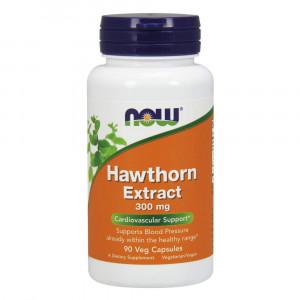 NOW Hawthorn Extract 300 mg,90 Veg Capsules