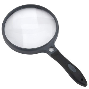 Carson SureGrip Series Hand Held or Hands Free 2x Power Magnifying Glasses For Reading, Low Vision, Inspection, Craft and Hobby Magnifiers (SG-10, SG-12, SG-14, SG-16)