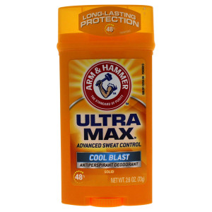 Arm and Hammer Ultra Max Invisible Solid Antiperspirant Deodorant, Cool Blast, 2.6 Oz