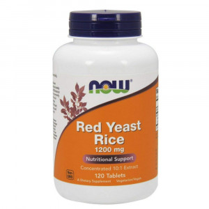 NOW Red Yeast Rice 1200 mg,120 Tablets