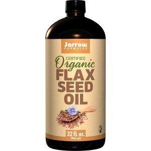 Jarrow Formulas Flaxseed Oil, Plant Based Source of Omega-3,Supports Heart and Brain, 32 Fluid Ounce