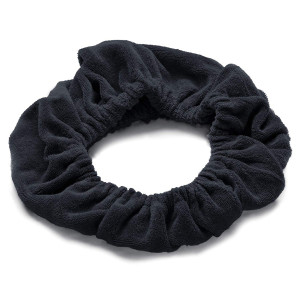 TASSI (Black) Hair Holder Head Wrap Stretch Terry Cloth, The Best Way To Hold Your Hair Since...Ever!