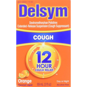 Delsym Adult 12 Hr Cough Relief Liquid, Orange, 3oz