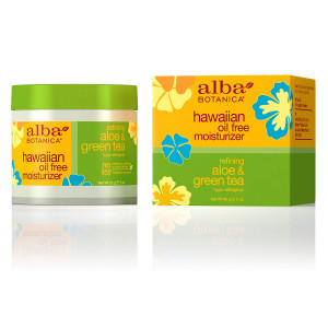 Alba Botanica Hawaiian, Aloe and Green Tea Oil-Free Moisturizer, 3 Ounce (Pack of 2)