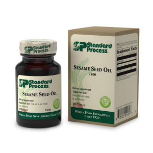 Standard Process - Sesame Seed Oil - Supports Liver and Blood Health, Immune System Response Function, Provides Antioxidant Activity, Gluten Free - 60 Perles