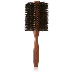 Spornette Italian 3 Inch Round Double Density Boar Bristle Brush (#955-XL) with Wooden Handle for Styling, Volumizing, Finishing, Straightening and Curling Medium, Long, Normal Hair, Extensions and Wigs