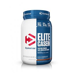 Dymatize Elite 100% Micellar Casein Slow Absorbing Protein, Rich Chocolate, 2 lbs