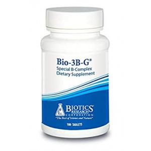 Bio-3B- G  Vitamin B Complex, Vitamin B Complex Supplement for Stress, Energy and Adrenal Health - Gluten Free Supplement by Biotics Research 120c