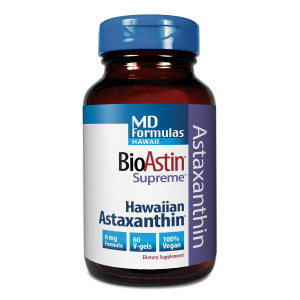 BioAstin Hawaiian Astaxanthin  MD Formulas BioAstin Supreme - 6 mg 60 VEGAN soft gels  Supports Joint, Skin, Eye Health Naturally  A Super-Antioxidant Grown in Hawaii
