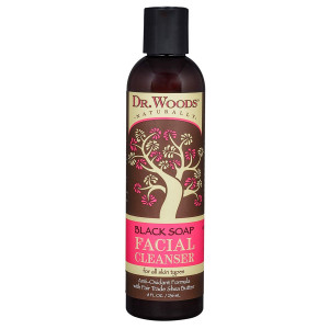Dr. Woods Shea Vision Black Soap Facial Cleanser with Organic Shea Butter, 8 Ounce