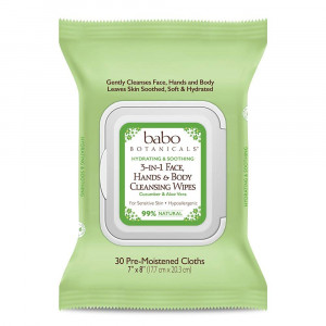 Babo Botanicals 3-in-1 Hydrating Wipes, Cucumber and Aloe, 30 Count