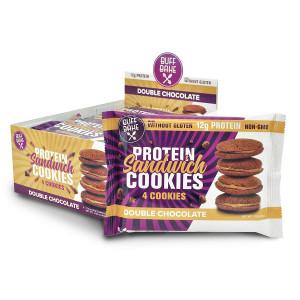 Protein Sandwich Cookies - 12 Grams of Whey PROTEIN SNACKS, Gluten Free, Non-GMO (Double Chocolate, 8 Count, 1.79 oz)