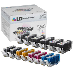 LD Compatible Ink Cartridge Replacements for Canon PGI-225 and CLI-226 (4 Pigment Black, 2 Dye Black, 2 Cyan, 2 Magenta, 2 Yellow, 2 Gray, 14-Pack)