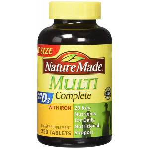 Nature Made Multi Complete Vitamin and Mineral Tabs 250 tablets