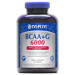 MRM - BCAA+G 6000, Ultimate Muscle Post-Workout Recovery Formula , Supports Muscle Size and Strength, Recovery, Reduces Fatigue and Muscle Soreness (150 Capsules)