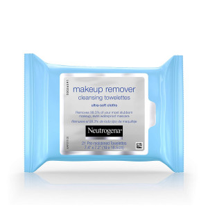 Neutrogena Makeup Remover Cleansing Towelettes and Wipes, 21 Count (Pack of 3)