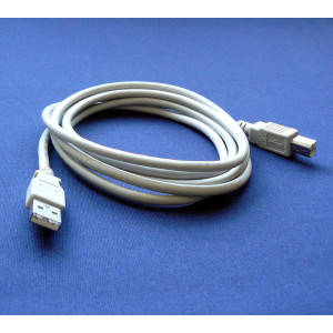 HP DeskJet 3050 Printer Compatible USB 2.0 Cable Cord for PC, Notebook, Macbook - 6 feet White - Bargains Depot