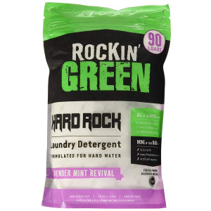 Rockin' Green Natural HE Powder Laundry Detergent for Hard Water, Perfect for Cloth Diapers, 90 Loads, Lavender Mint Revival Scent, 45 oz, (0.22/load)