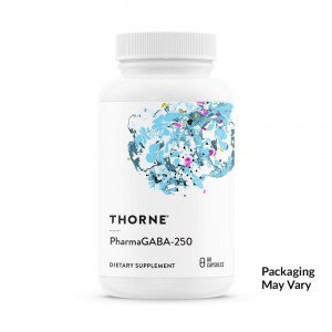 Thorne Research - PharmaGABA-250 - Natural Source GABA (Gamma-Aminobutyric Acid) Supplement - Promotes a Calm, Relaxed, Focused State of Mind - 60 Capsules