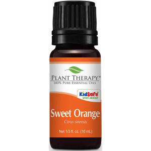 Plant Therapy Sweet Orange Essential Oil. 100% Pure, Undiluted, Therapeutic Grade . 10 ml (1/3 oz).