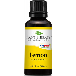 Plant Therapy Lemon Essential Oil 30 mL (1 oz) 100% Pure, Undiluted, Therapeutic Grade
