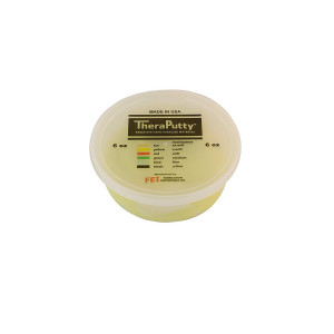CanDo TheraPutty Plus Anti-microbial, Yellow: X-Soft, 6 oz
