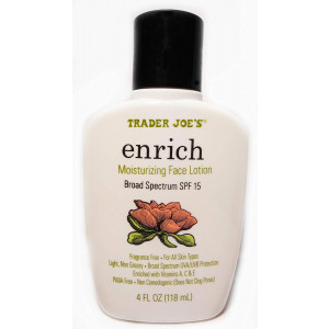 Trader Joe's Enrich Moisturizing Face Lotion Broad Spectrum SPF 15