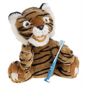 StarSmilez Kids Tooth Brushing Buddy- Lil Plush Tiger