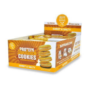 Protein Sandwich Cookies - 12 Grams of Whey Protein, Gluten Free, Non-GMO (Sweet and Salty, 8 Count, 1.79 oz)