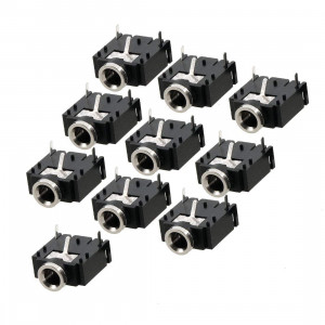 Uxcell a12062600ux0366 10 Pcs 3 Pin PCB Mount Female 3.5mm Stereo Jack Socket Connector (Pack of 10)