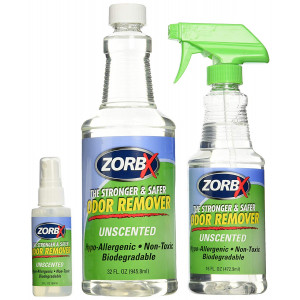 ZORBX Unscented Multipurpose Odor Remover Safe for All, Even Children, No Harsh Chemicals, Perfumes or Fragrances, Stronger and Safer Odor Remover Works Instantly (Value Pack)