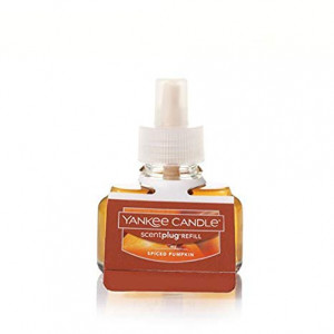 Yankee Candle Spiced Pumpkin Scent-Plug Air Freshener Refill, Food and Spice Scent
