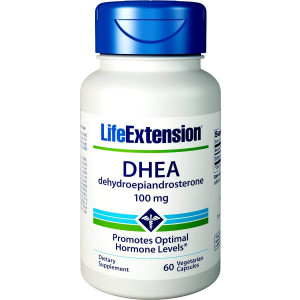 Life Extension DHEA 100 Mg, 60 Vegetarian Capsules