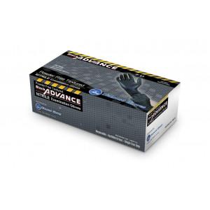 Diamond Gloves Black Advance Nitrile Examination Powder-Free Gloves, 6.3 mil, Heavy Duty, X-Large, 100 Count