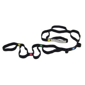 TheraBand Stretch Strap with Loops to Increase Flexibility, Dynamic Stretching Tool for Athletes Including Dancers, Cheerleaders, Gymnasts, Runners, Pilates and Yoga Elastic Stretch Out Band