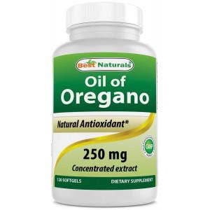 Best Naturals Oregano Oil 250 Mg Softgels, 120 Count