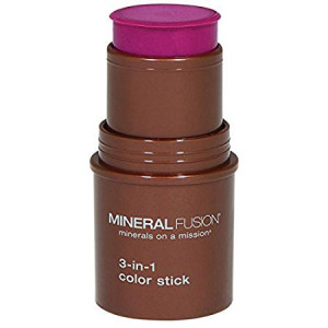 Mineral Fusion 3-in-1 Color Stick, Berry Glow.18 Ounce