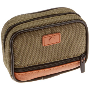 Fashion Smart Men's 7 Day Compartment Pill Box Zip Case with Outer Pocket, Black and Green