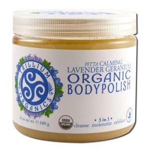 Trillium Organics Body Polish Lavender Geranium Calming Salt Scrub 24 Ounces
