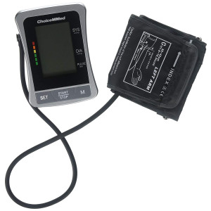 """CHOICEMMED Portable Blood Pressure Monitor - BP Cuff Meter with Display - Standard Size Blood Pressure Machine 12.6""""-17.7"""" - Blood Pressure Tester with Carrying Bag - Blood Pressure Gauge with Memory"""